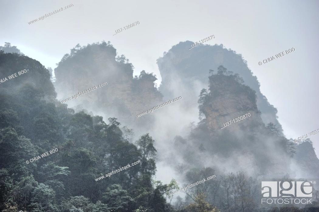 Stock Photo: Shilihualang or 10-Mile-Gallery, Zhangjiajie, Hunan, China.