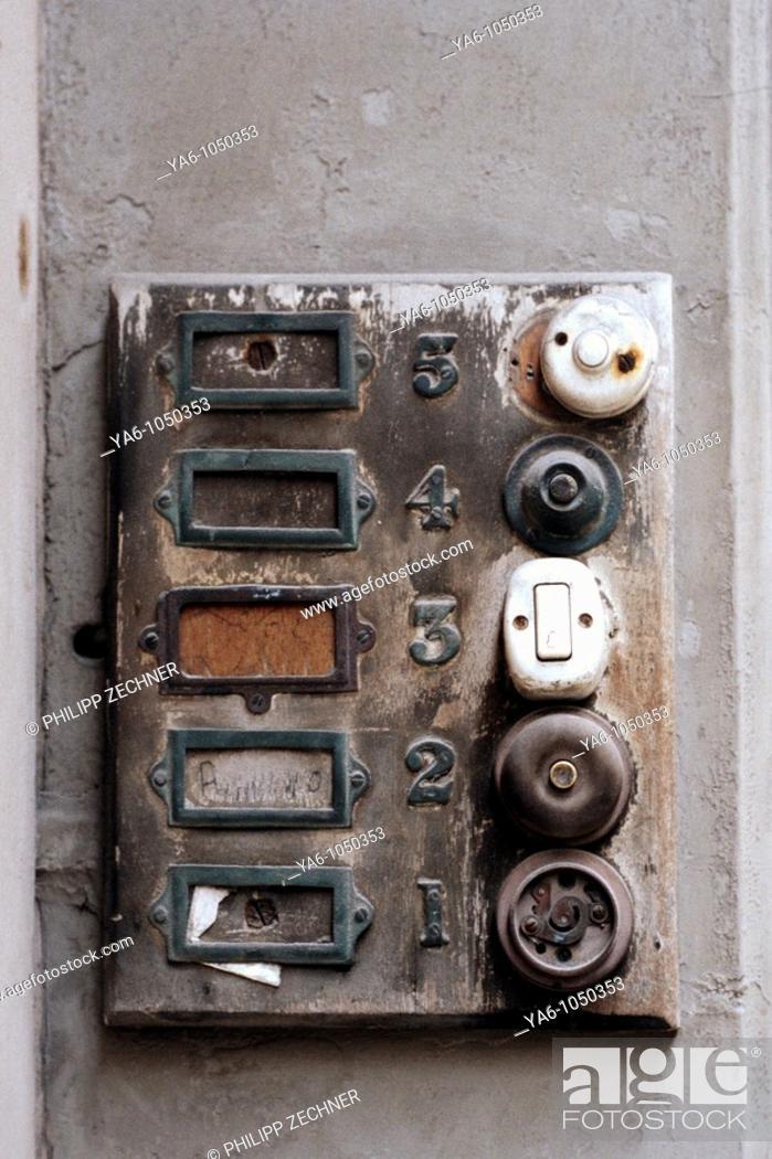 Stock Photo: Door bells.