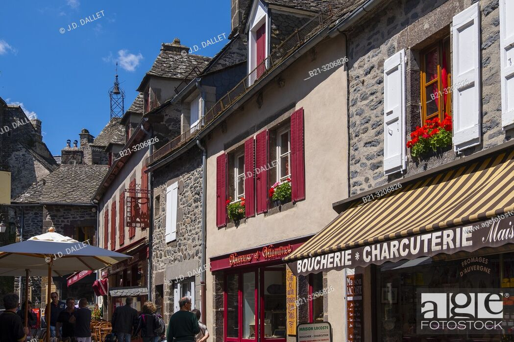 Stock Photo: France, Auvergne, Cantal, at Salers.