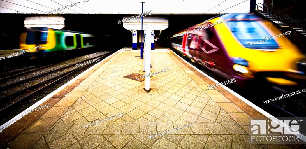 Stock Photo: New Street Train Station, Birmingham, West Midlands, England, UK.
