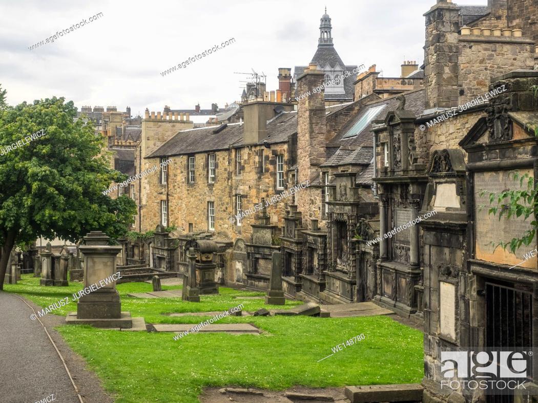 Stock Photo: Greyfriars Kirk is a parish kirk (church) of the Church of Scotland in central Edinburgh, Scotland.