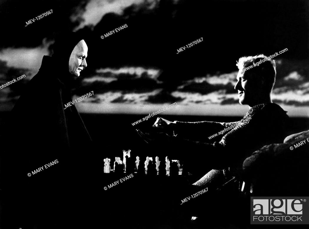 Bengt Ekerot Max Von Sydow Characters Death Antonius Block Film The Seventh Seal 1950 Stock Photo Picture And Rights Managed Image Pic Mev 12070567 Agefotostock