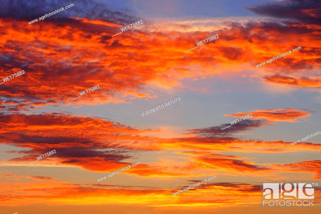 Stock Photo: Clouds and sky image collection - taken in different periods from one sight.
