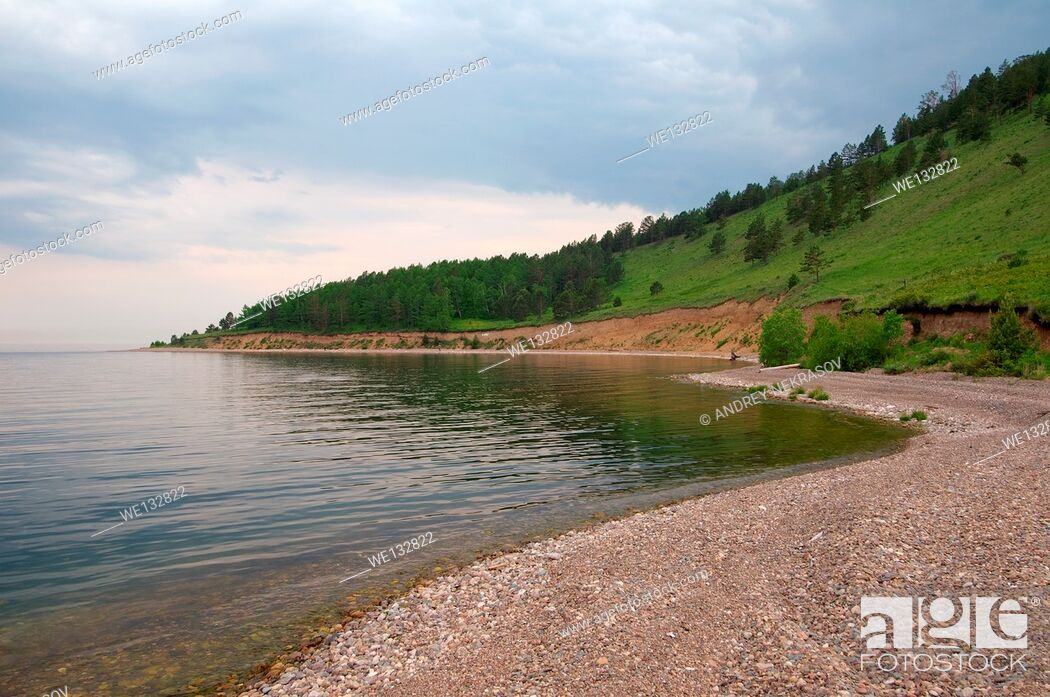 Stock Photo: Bolshiye Koty (big Koty), Lake Baikal, Irkutsk region, Siberia, Russian Federation.