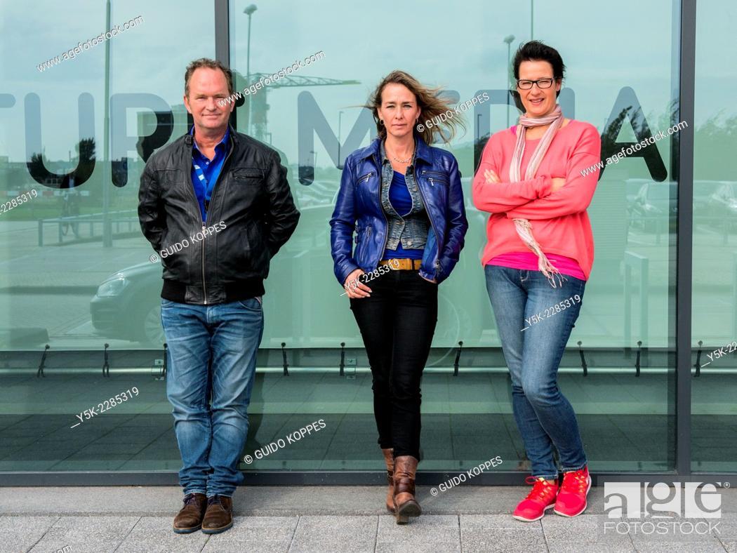 NSDM Warf, Amsterdam, Netherlands  Three corporate collegues
