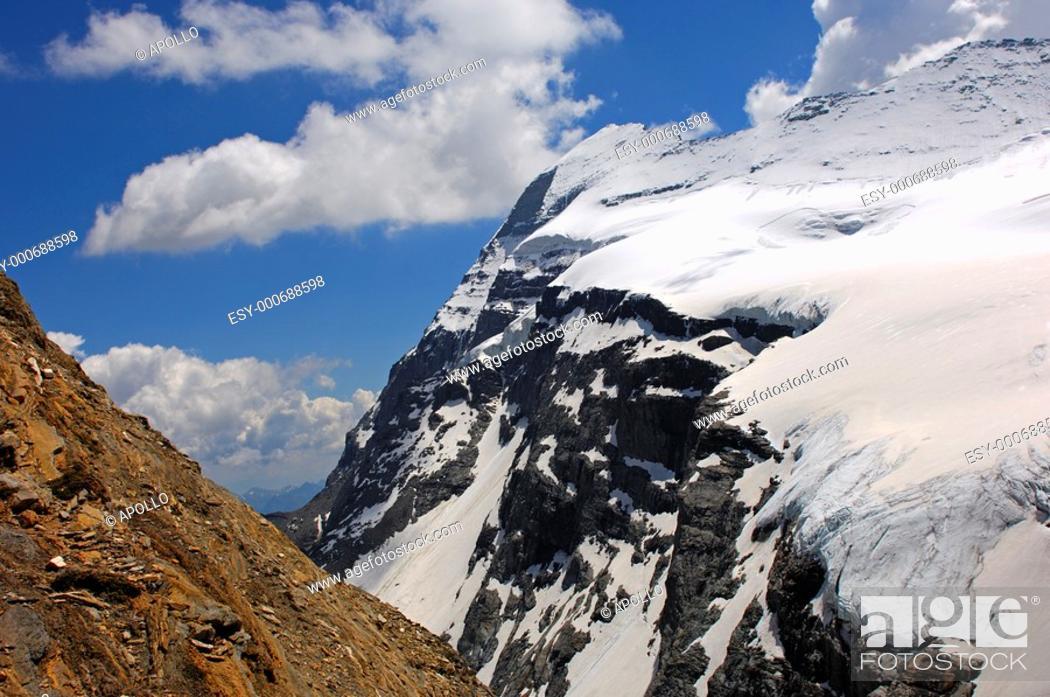 Stock Photo: Monte Leone, Lepontine Alps, Italy.