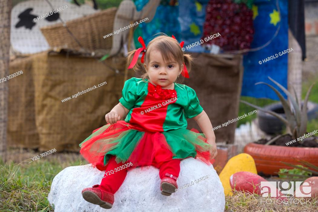 Imagen: Infant Girl dresses Tulle Romper Christmas Outfit.