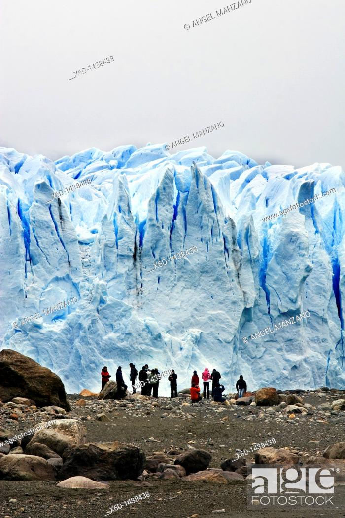 Stock Photo: Perito Moreno glacier, El Calafate, Argentina.