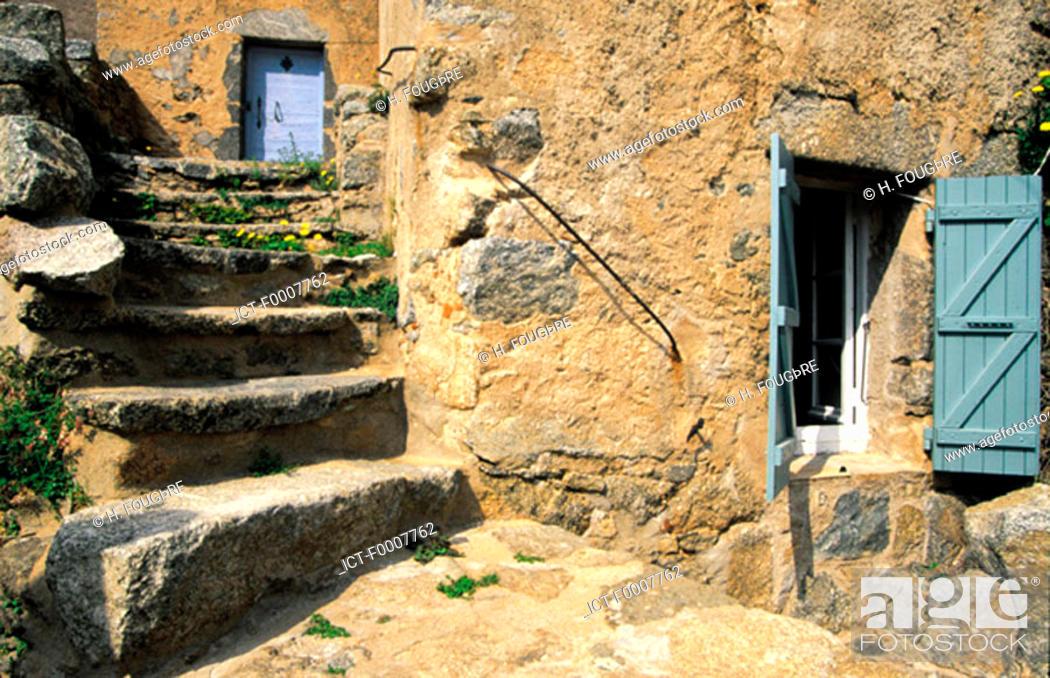 Stock Photo: France, Corsica, Balagne, village of San Antonino.