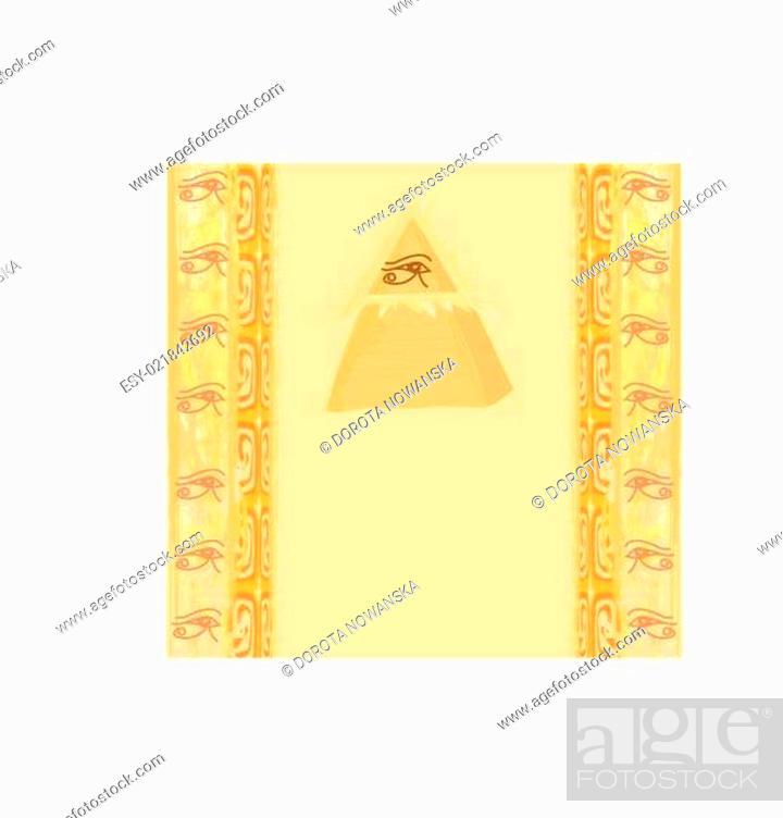 Vector: Ancient Pyramid Eye Design.