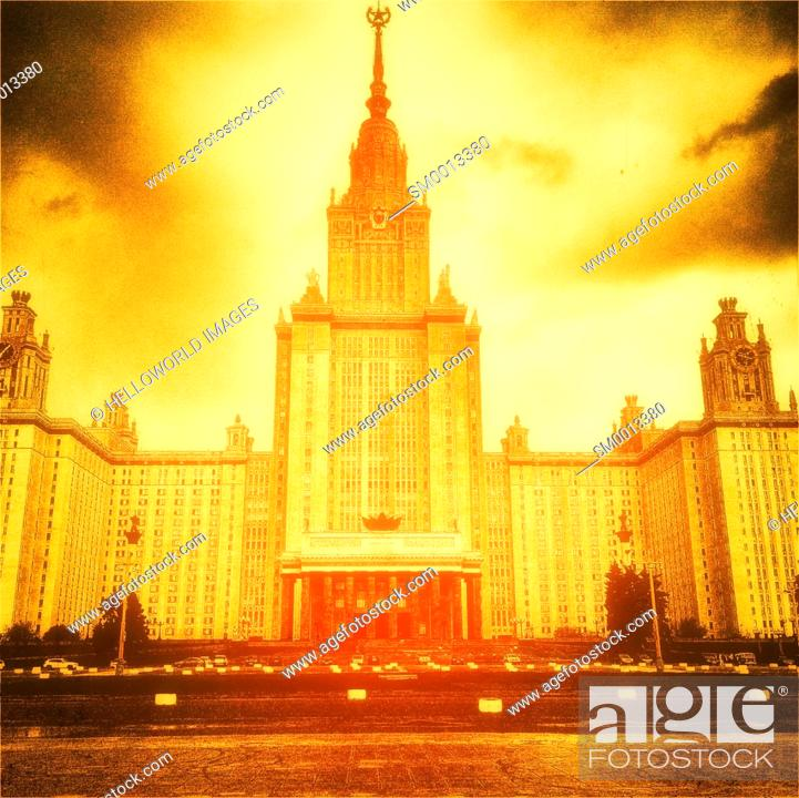 Stock Photo: Lomonosov Moscow State University, founded in 1755, Moscow, Russia.