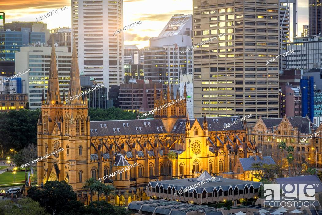 Stock Photo: Sydney Cathedral.
