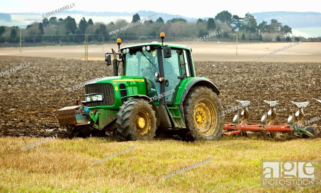 Imagen: spring plowing. Angus Scotland.