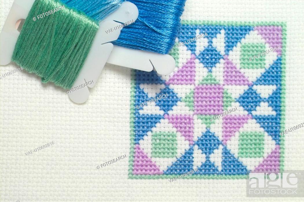 Stock Photo: bobbin, sewing intrument, house item, thread.