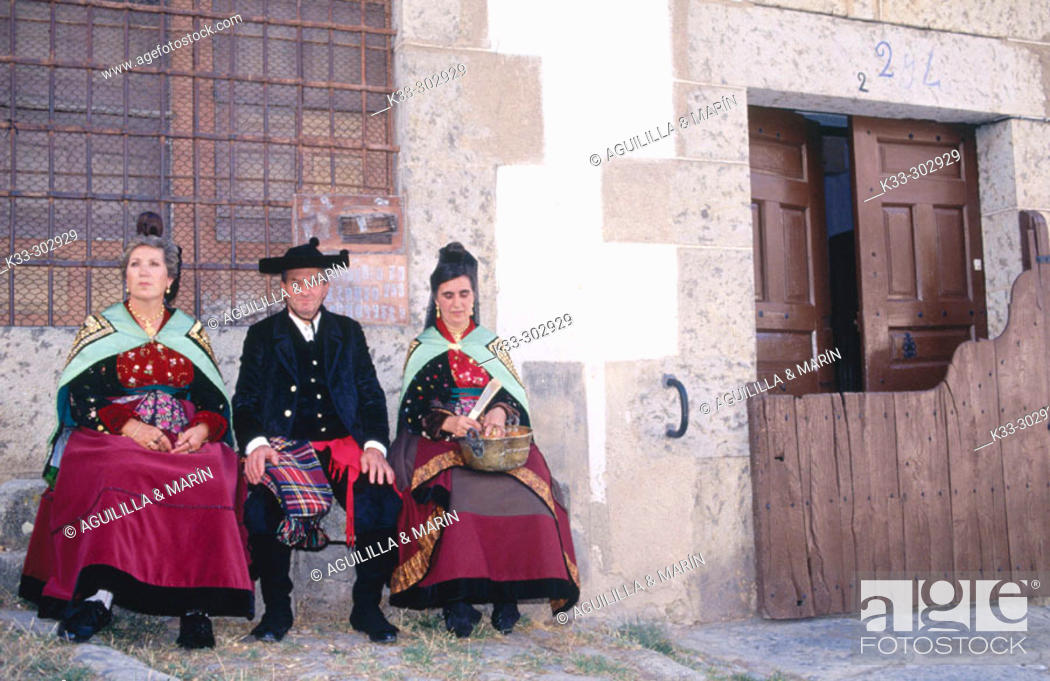 Stock Photo: Traditional wedding. Candelario. Salamanca province. Castilla-Leon. Spain.