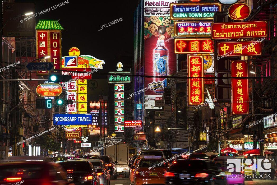 Stock Photo: China town, Bangkok, Thailand.