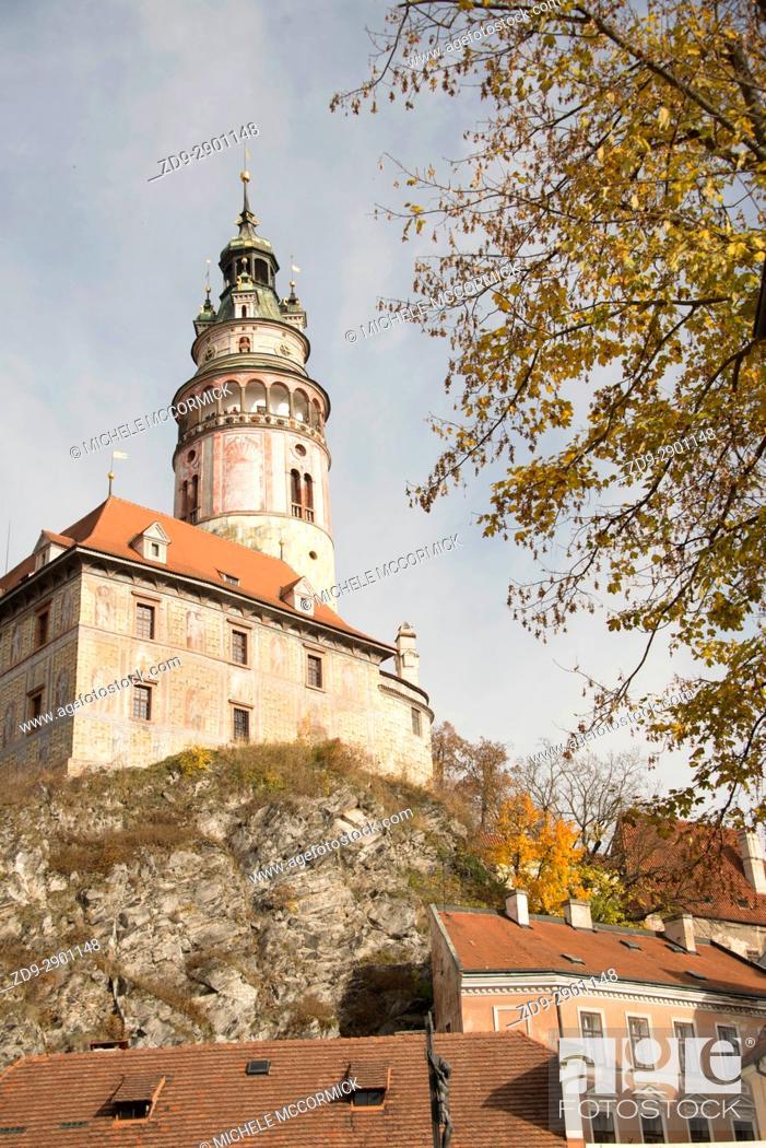 Stock Photo: The castle at Cesky Krumlov.