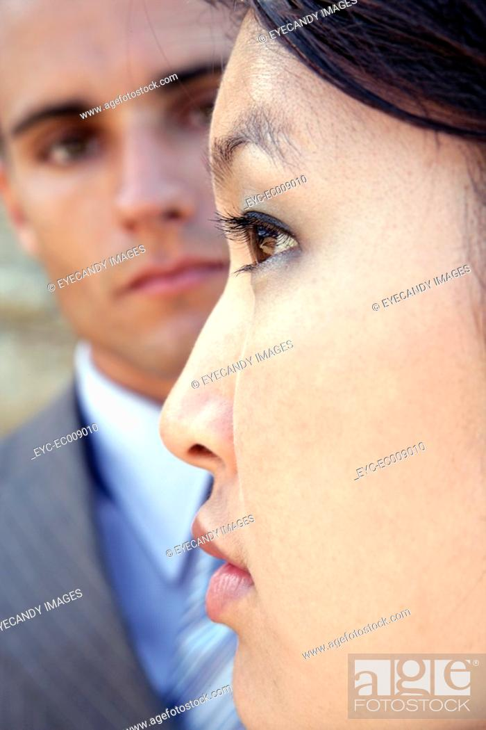 Stock Photo: View of a woman in a contemplative mood.
