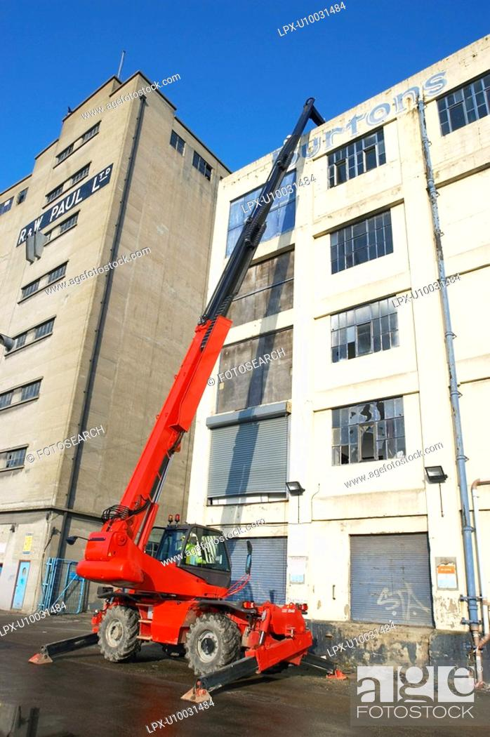 Stock Photo: Demolition of old warehouse.