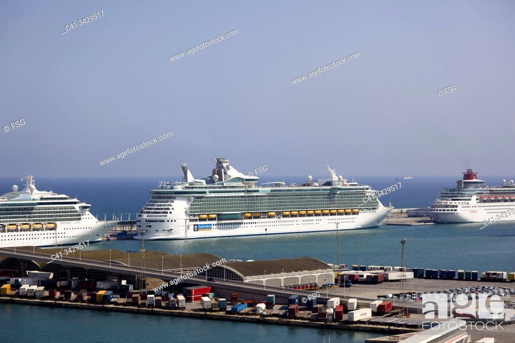 Stock Photo: Port of Barcelona, Spain.