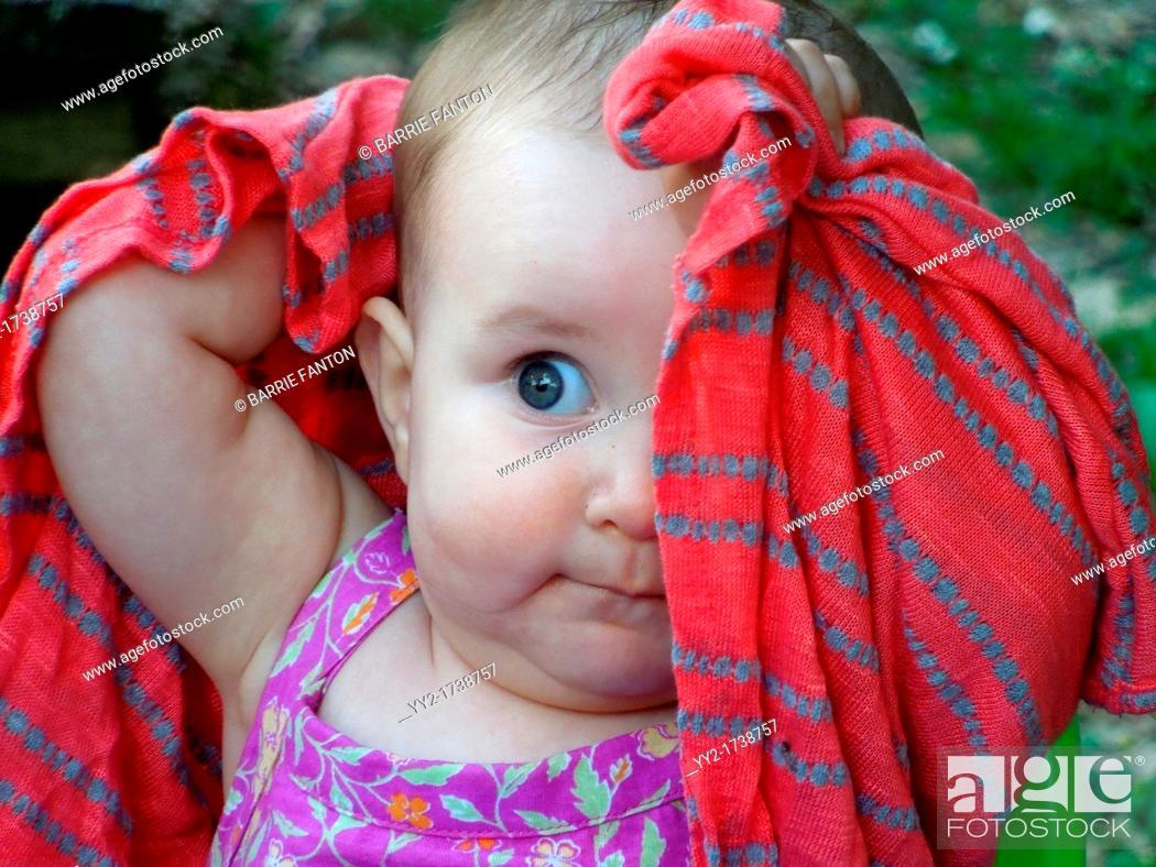 Stock Photo: 8-Month Old Girl, Mt  Morris, New York, USA.
