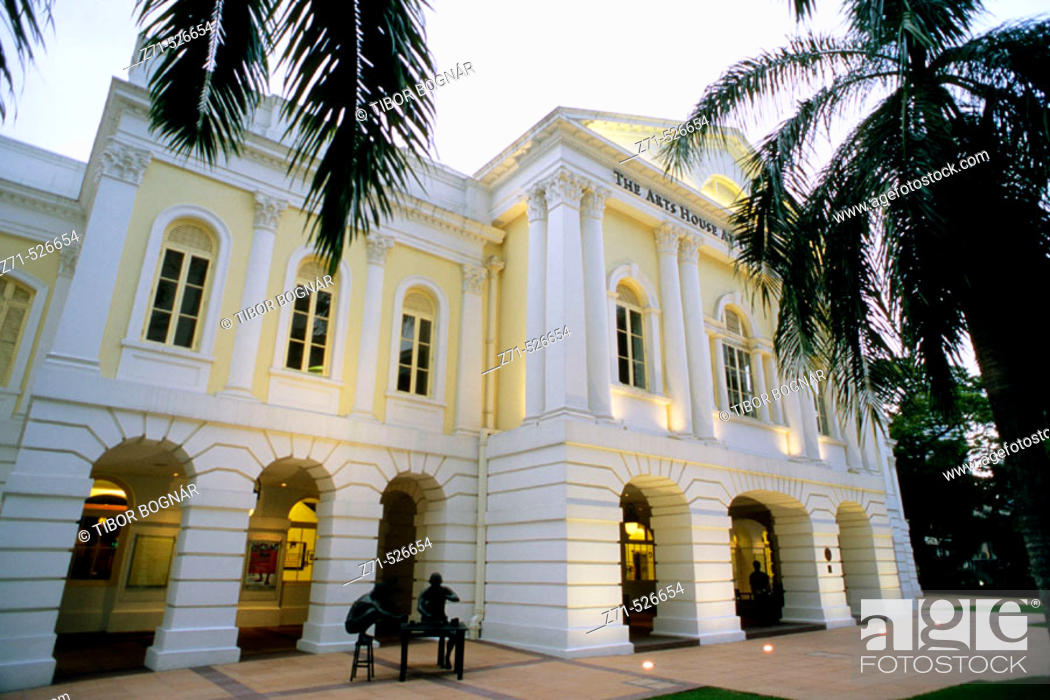 Stock Photo: Arts House at the Old Parliament, Singapore.