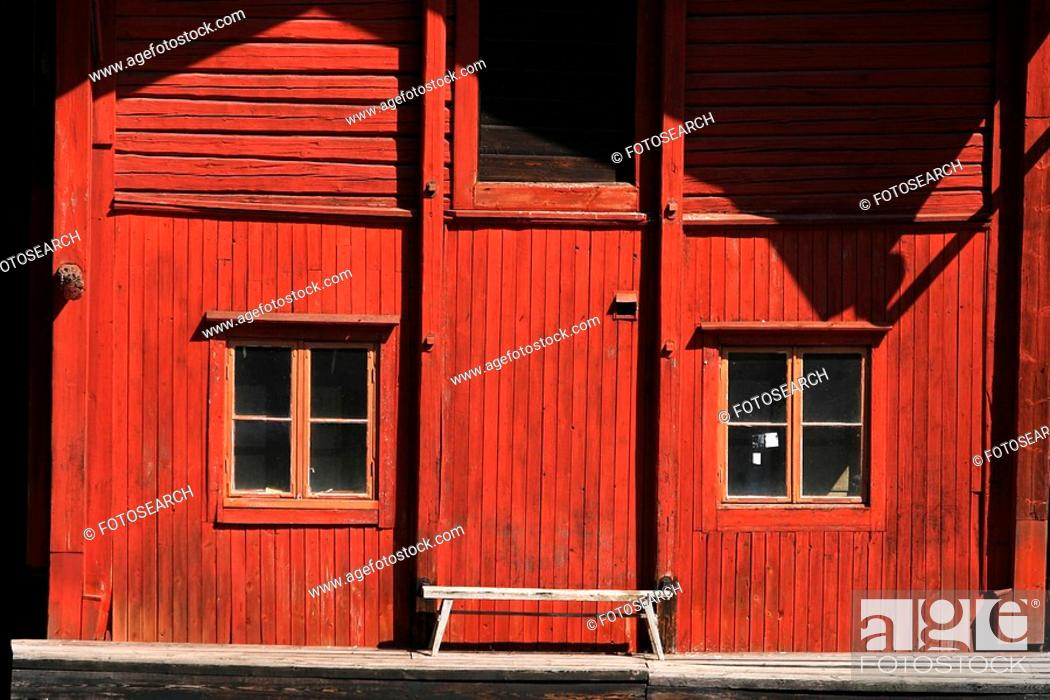 Stock Photo: construction, building, construct, cabin, business, appearance.