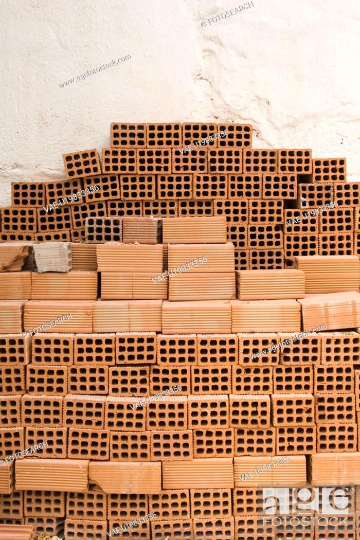 Stock Photo: Brick, Indoors, Hole, Close-Up, Arrangement.