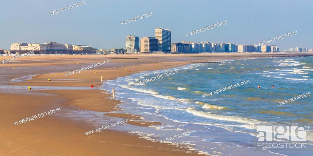 Stock Photo: Belgium, Flanders, Ostende, North sea seaside resort, beach.
