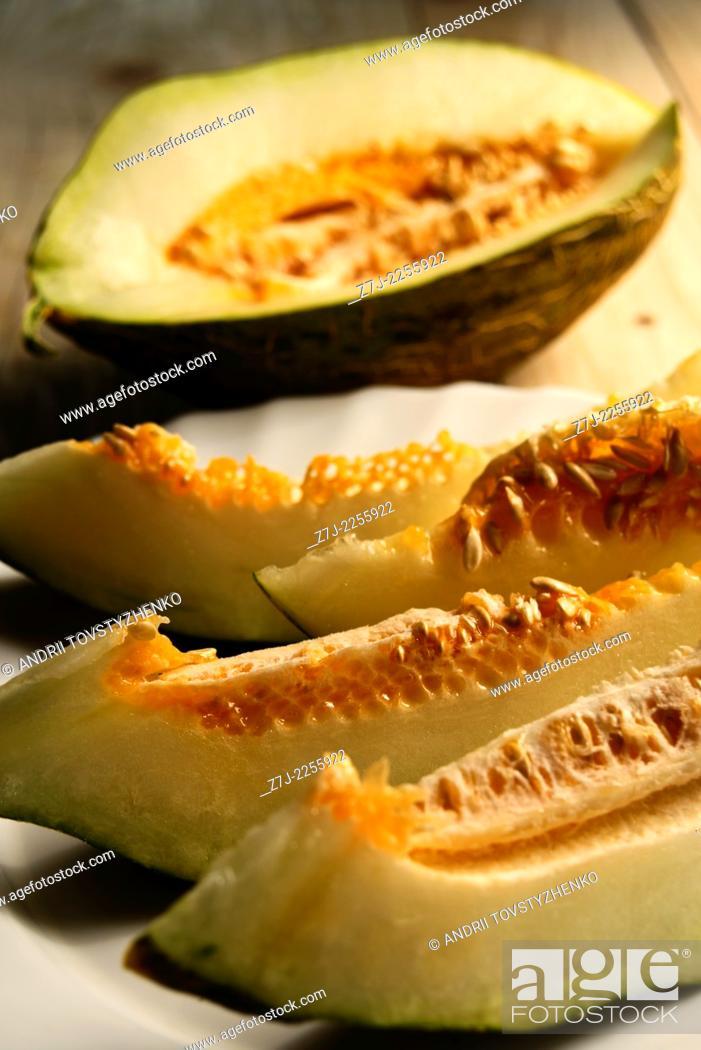 Stock Photo: fresh melon.