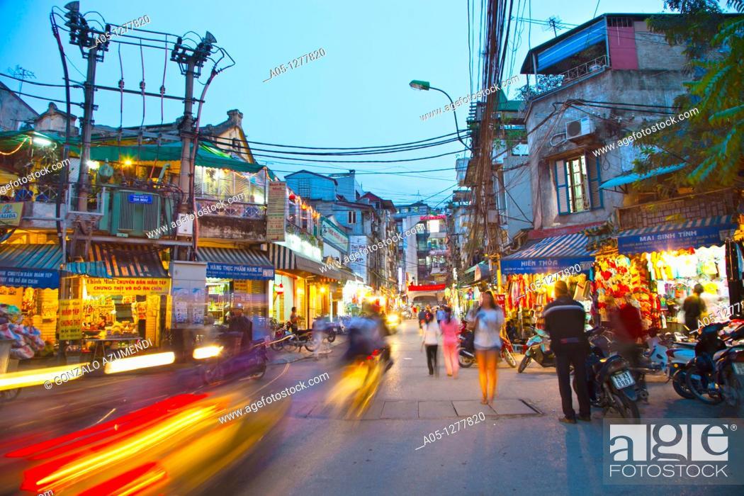 Stock Photo: Old City. Hanoi. Vietnam.