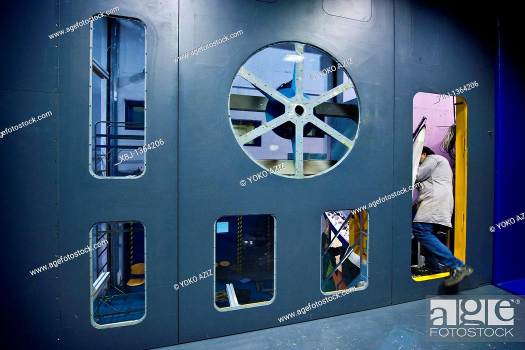 Stock Photo: Boundary layer and aeronautical wind tunnel, Politecnico of Milan, Italy.