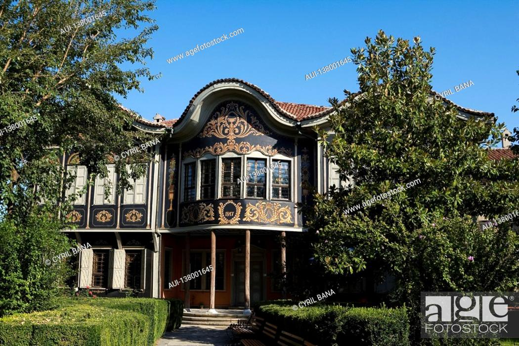 Stock Photo: Bulgaria - North-West Region - Rhodope Mountains - Plovdiv - Old City - Ethnographic Museum former Koyumdjioglu home.