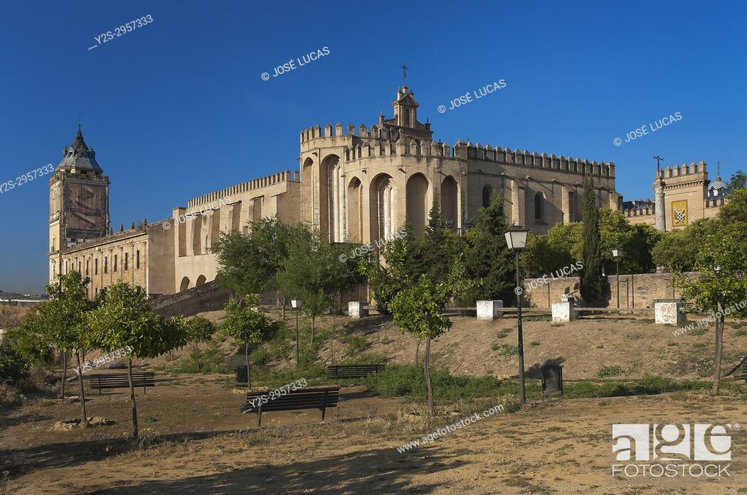 Stock Photo: Monastery of San Isidoro del Campo - founded in 1301, Santiponce, Sevilla province, Region of Andalusia, Spain, Europe.