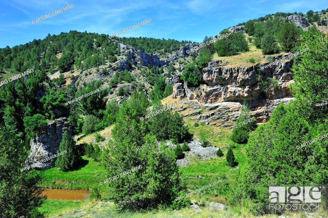 Imagen: Alto Tajo Natural Park. Huertahernando, Guadalajara province, Spain.