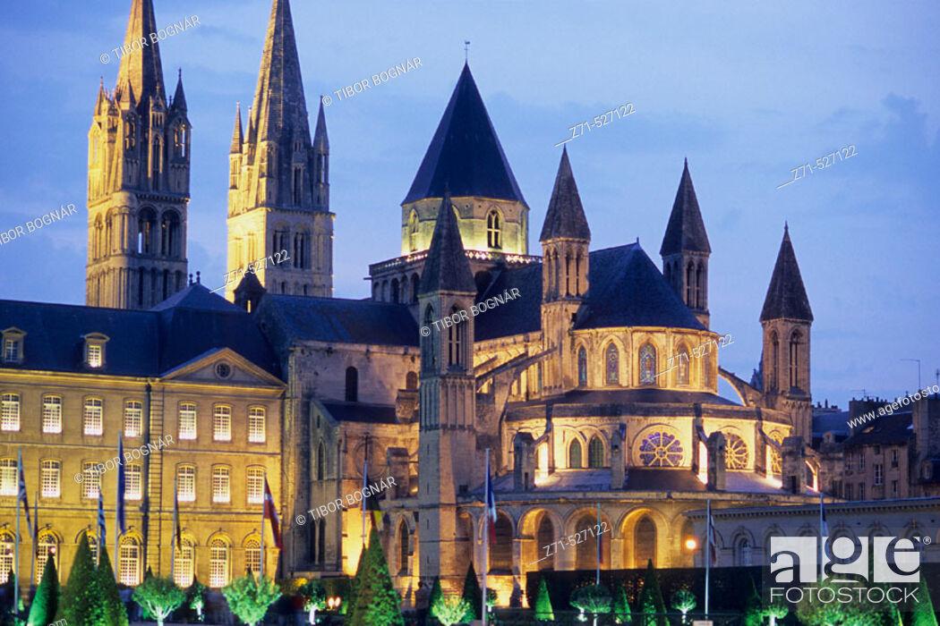 Stock Photo: L'Abbaye-aux-Hommes. Saint Etienne. Caen. Normandy. France.