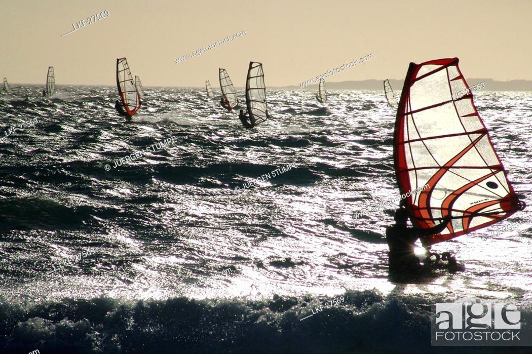 Stock Photo: Windsurfers, Cape Town, South Africa.