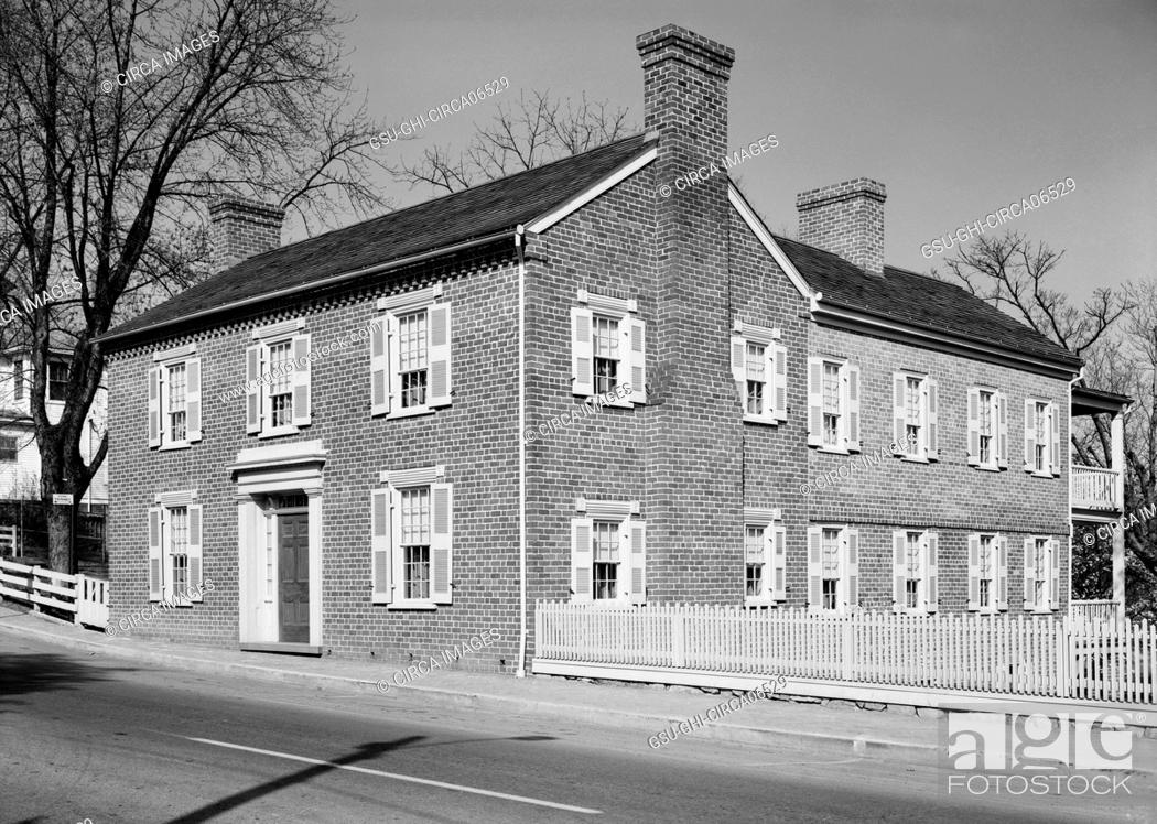 Stock Photo: Andrew Johnson House, 217 North Main Street, Greeneville, Green County, Tennessee, USA, Historic American Buildings Survey, 1933.