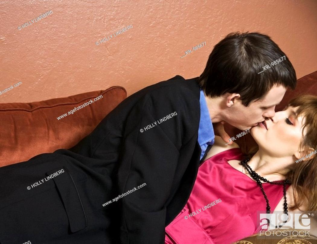Stock Photo: Couple just got in from a romantic night out. part 2.
