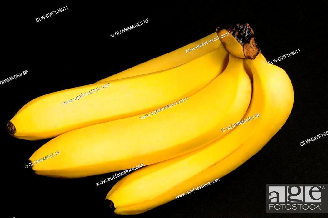 Stock Photo: Close-up of a bunch of bananas.