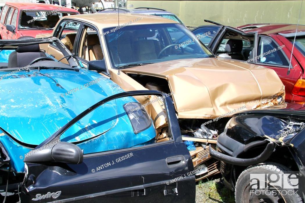 Stock Photo: Car wreck.