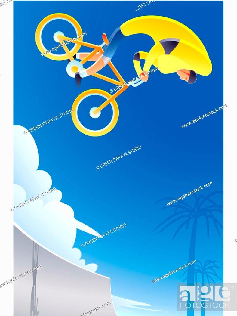 Stock Photo: Bmx biking.