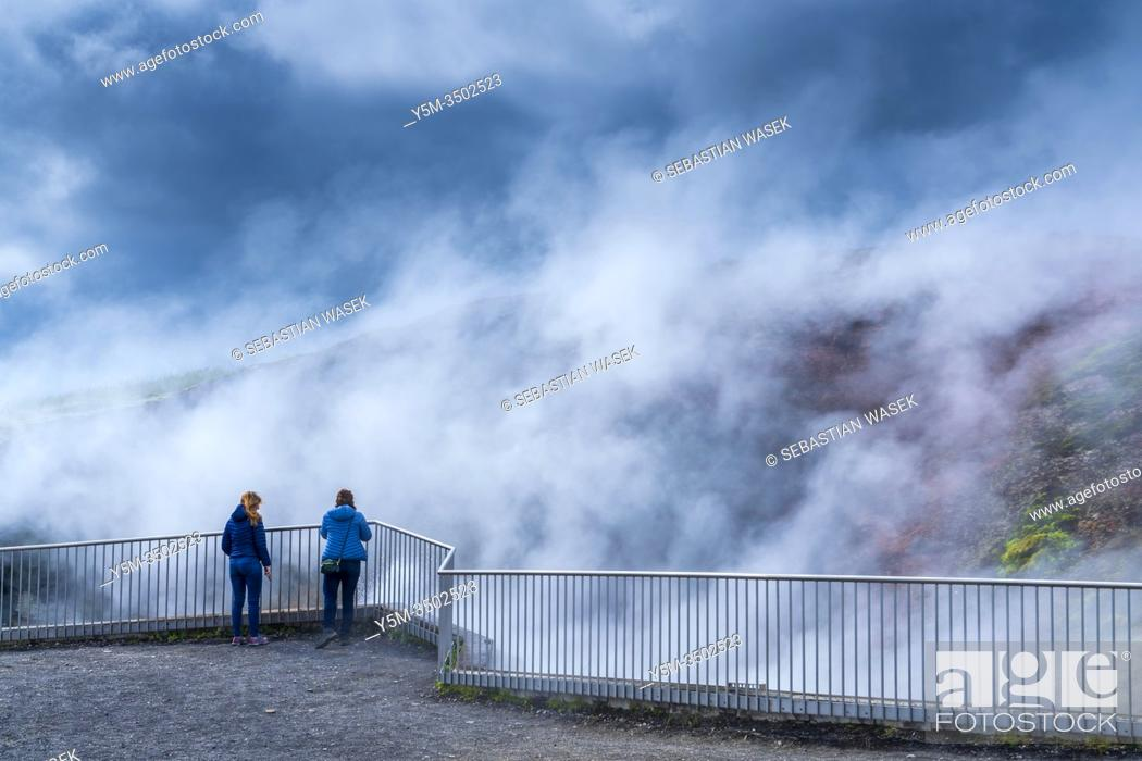 Stock Photo: Deildartunguhver, hot spring, Iceland.