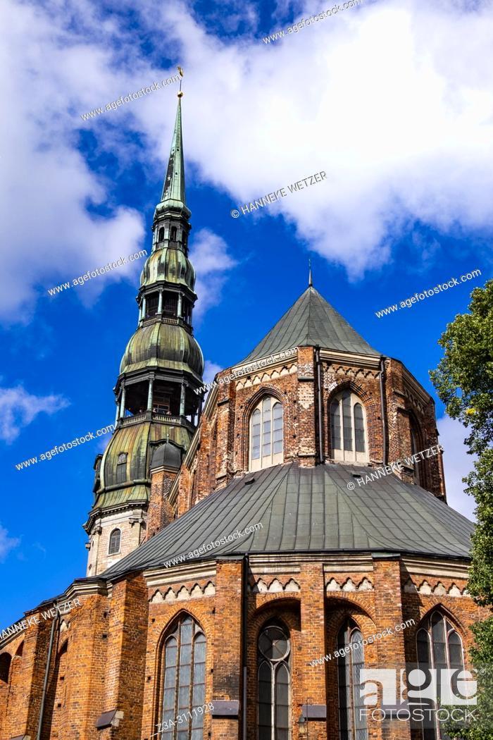 Imagen: St. Peter's church in Riga, Latvia, Europe.