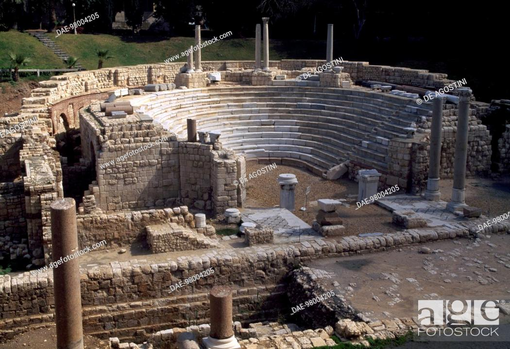 Stock Photo: Roman theatre of Kom el-Dik, Alexandria, Egypt. Roman civilisation, 4th century AD.