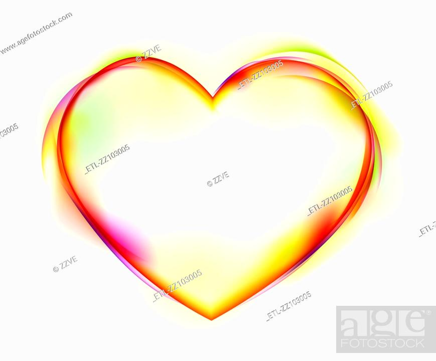 Stock Photo: Heart shape on white background.