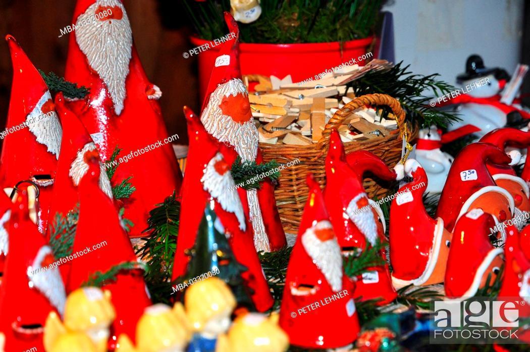 Stock Photo: Germany, Bavaria, Lake of Constance, Lindau, Christmas fair, Nicholases,.