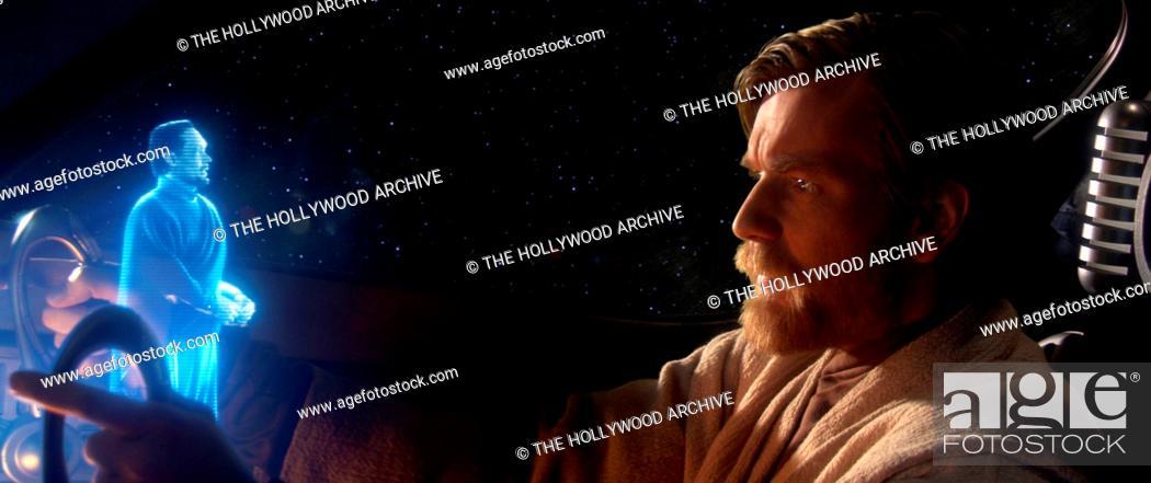 Stock Photo: Senator Bail Organa (Jimmy Smits) appears before Jedi Obi-Wan Kenobi with disturbing news in Star Wars: Episode III Revenge of the Sith.
