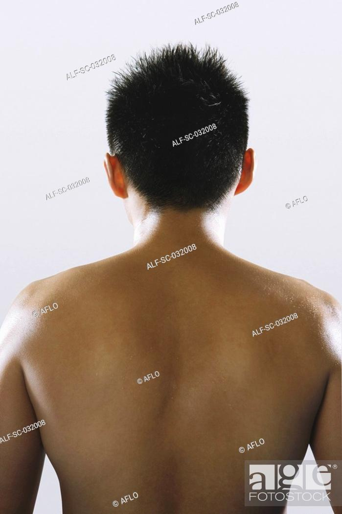 Stock Photo: Boxer's muscular back.