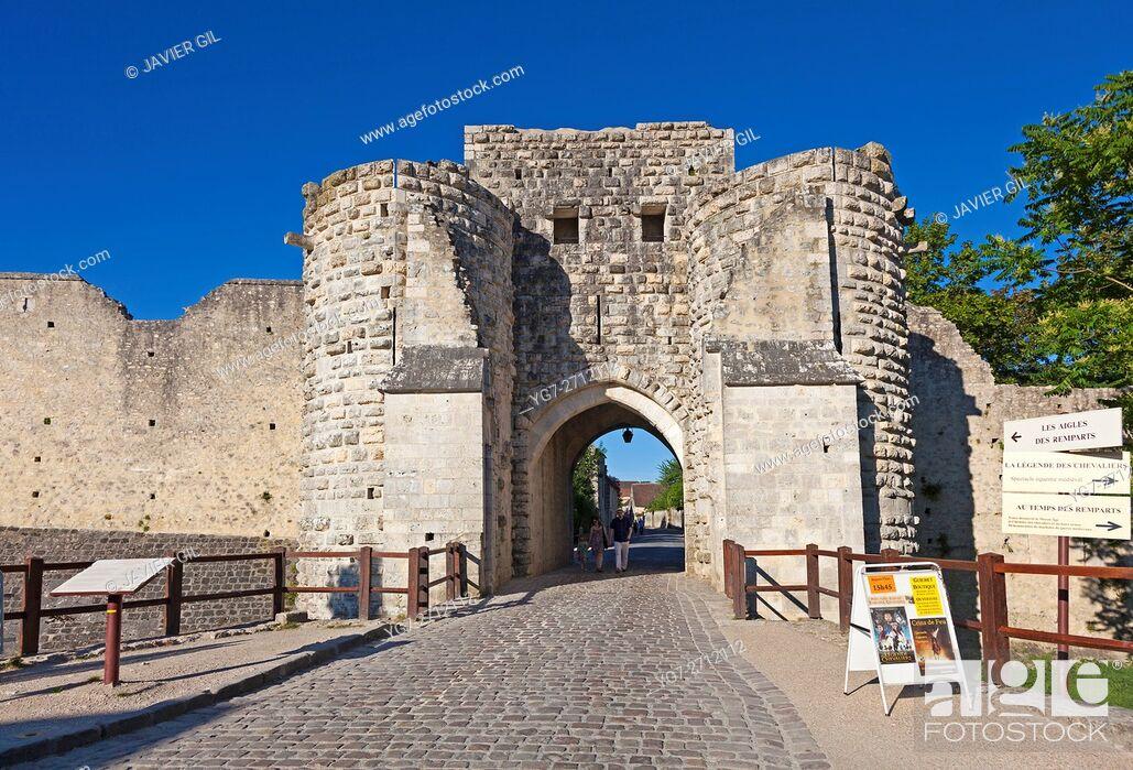 Stock Photo: Walls in the city of Provins, Seine-et-Marne, Ile-de-france, France.